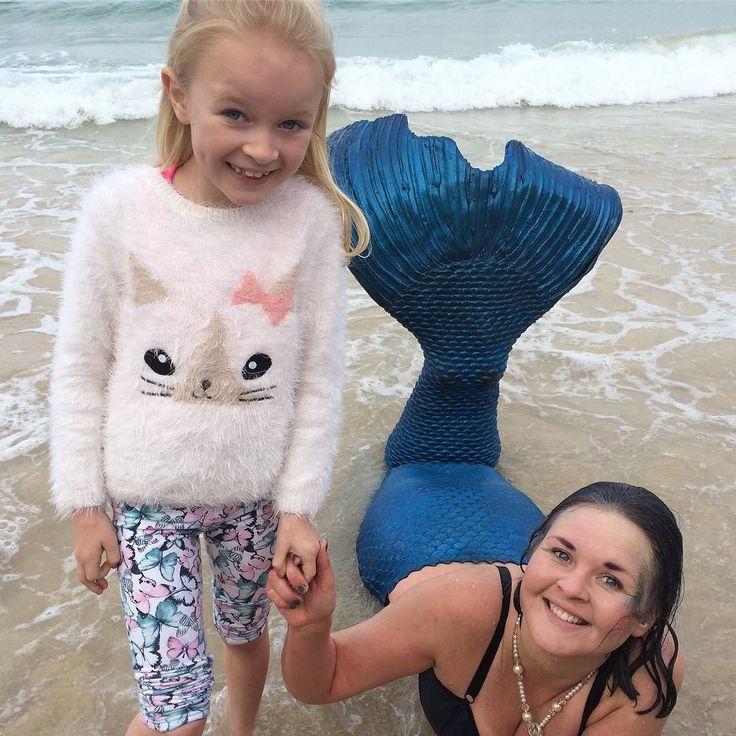 We found a real life mermaid on the beach! Happiest girl ever! #fb #twitter #mermaid #stives #coastallife