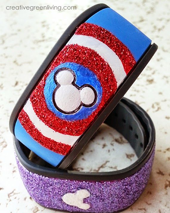 How to Make a Personalized Captain America MagicBand for your Walt Disney World vacation ~ Creative Green Living