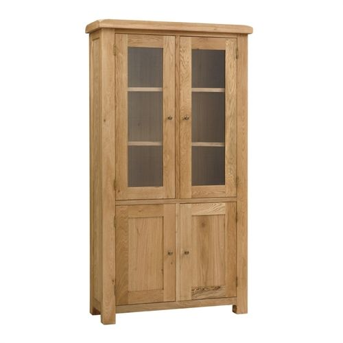 Kingsley Oak Display Cabinet with 2 Doors