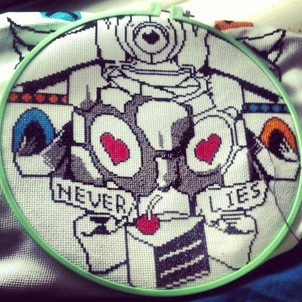 At least this cross stitch isn't a lie. | 19 Delightfully Geeky Cross Stitches You Wish You Owned