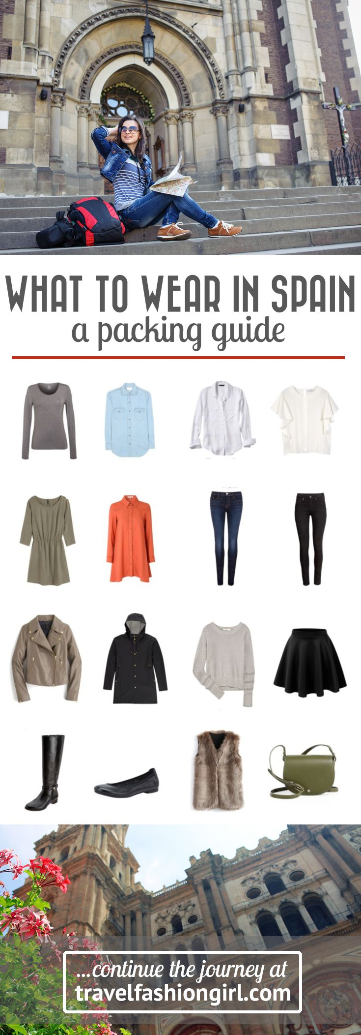 If you're planning a trip to Spain this Winter you need this packing list. We went to a local to get exactly what you need to pack for your trip to Spain. | travelfashiongirl.com