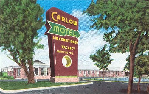 The Carlow Motel in Taylor, Texas - we stayed here 2 weeks while looking for a house.  Looks like it's improved. (Lived in Taylor from 1981 to 1983)