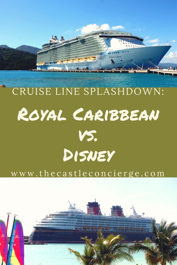 Royal Caribbean vs. Disney Cruise Line.  Do you agree with this cruise line splashdown?