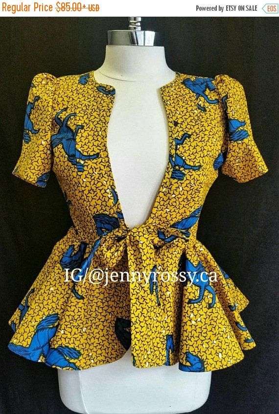 SALES ROSE African print topAnkara jacket African by JENNYROSSY
