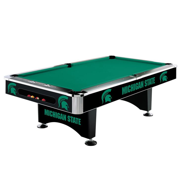 8Ft Pool Table - Michigan State Spartans