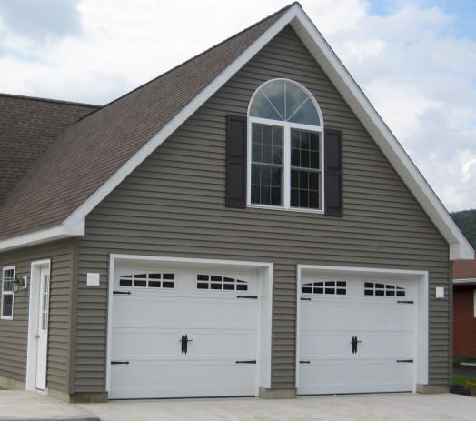 Garage and sticks on pinterest for 2 car pole garage