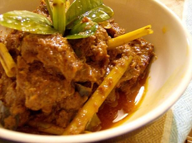 Spicy Beef in Coconut (Beef Rendang) 		- from Sumatra, Indonesia..if you are a spicy food lover, you're gonna love this.