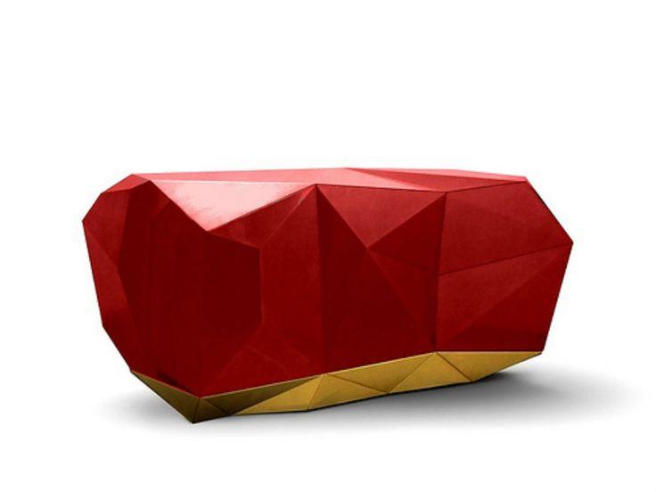 Luxus Sommer griechische Design Inspirationen | Rot Diamond wie Rot beach's Rocks in Santorini | http://wohn-designtrend.de/luxus-sommer-griechische-design-inspirationen/