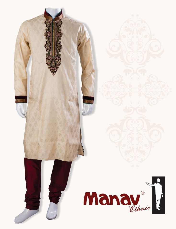Look impeccable in this creamish gold Kurta with maroon & green tone handwork & velvet touch up. http://www.manavethnic.com/product/creamish-gold-kurta/ #Creamish #Golden #Kurta #Handwork #Velvet #TraditionalWear #TraditionalAttire #IndianWear #IndianEthnic #EthnicWear #Ethnic #Fashion #Style #MensFashion #MensStyle #MensWear www.manavethnic.com