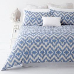 IKAT Blue Quilt Cover Set by In 2 Linen | Linen Room