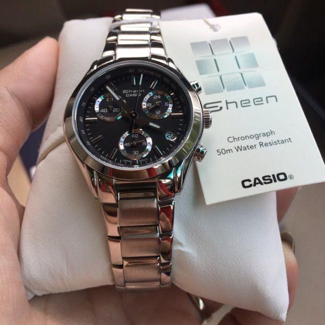 ขาย นาฬิกาข้อมือ Casio Sheen Chronograph รุ่น SHE-5000BP-1AV นาฬิกาข้อมือผู้หญิง