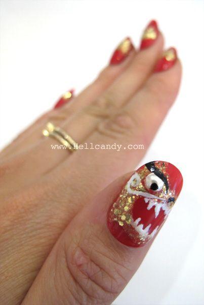 Chinese New Year dragon nails