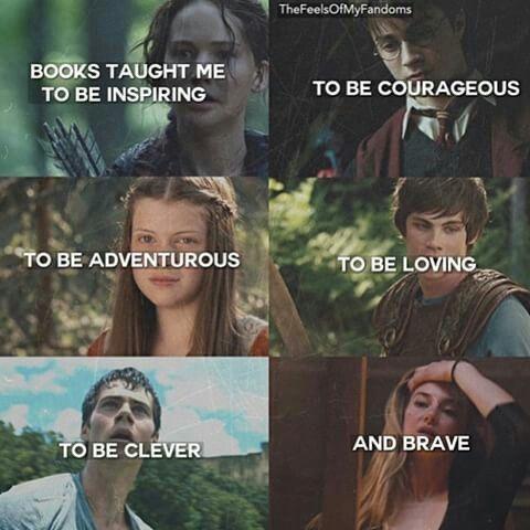 Harry Potter, Narnia, Percy Jackson, Maze Runner, Divergent