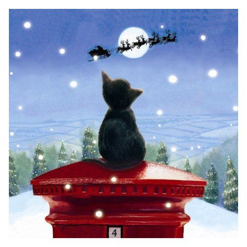 Christmas Tree Made Of Black Cats: 1000+ Images About Christmas Cards & Illustration On