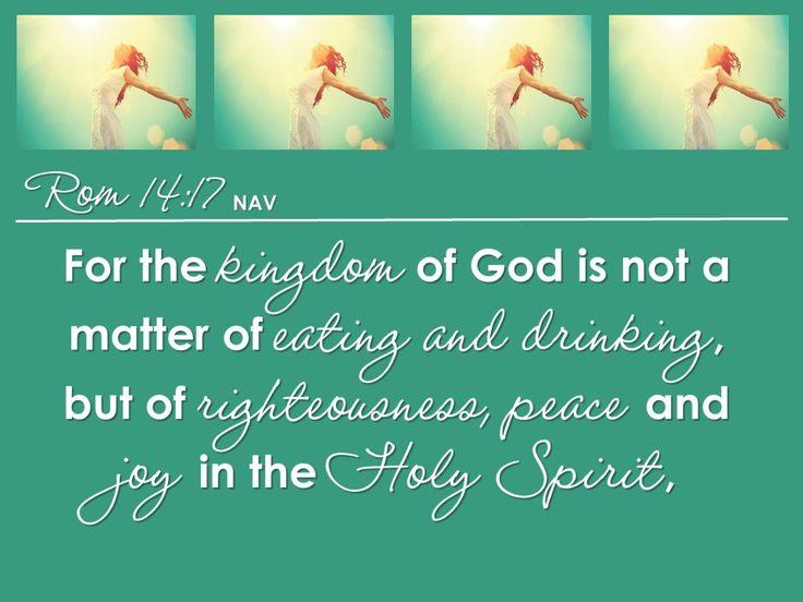 Flourishing Life 4 Romans 14:17