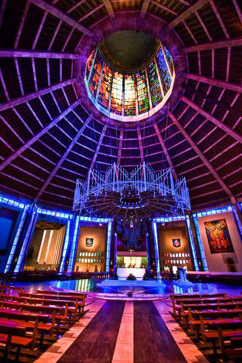 Metropolitan Cathedral in Liverpool Interior