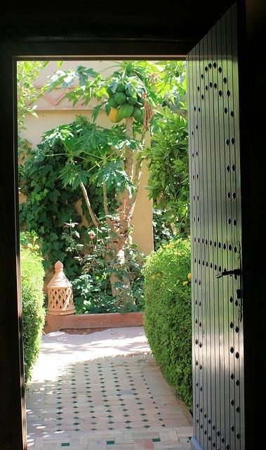Moroccan garden by ruthhallam, via Flickr
