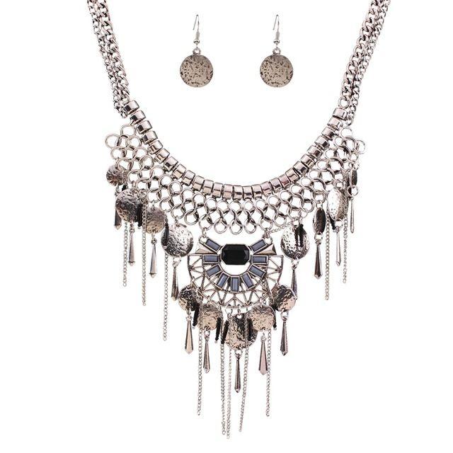 Мода бренда австрийские старинное серебро кристалл серьги устанавливает цветок шкентель кисти женщины ювелирные комплект свадьба ну вечеринку подарок N37591