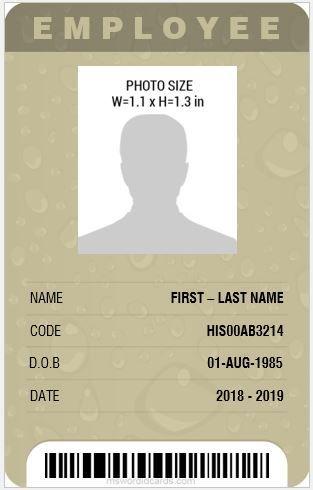 Professional Design Vertical Id Card Template Ms Word Id Card Template Employee Id Card Card Template