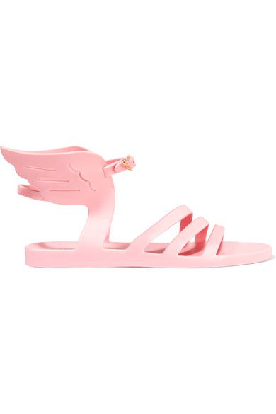 Ancient Greek Sandals - Ikaria Rubber Wing Sandals - Baby pink - IT36