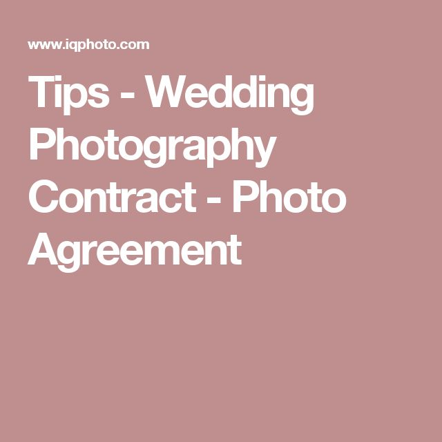 Best 25+ Wedding photography contract ideas on Pinterest - sample resume photographer