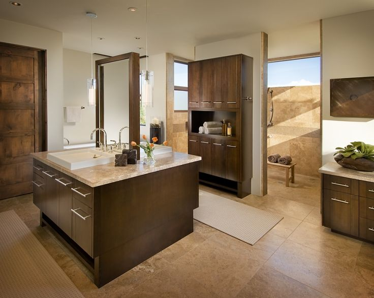 love how the shower is behind the wall residential contemporary bathroom phoenix ownby design