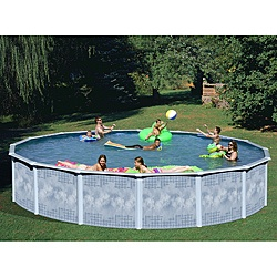 Quest All-in-1 Kit Above Ground Pool Package  Sale: $1,943.99.  52-Inch Above Ground Pool Deck (5 ft. x 6 ft)  Sale: $1,097.99.  Yorkshire 24 Foot Round Above Ground Pool  Sale: $1,043.99