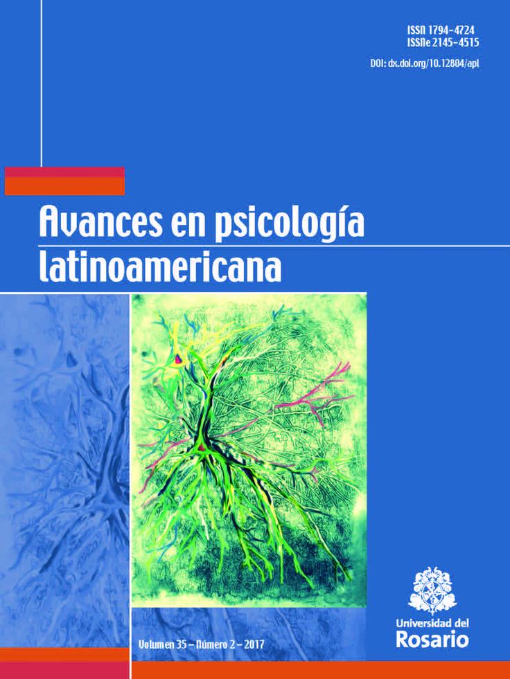 Avances en Psicología Latinoamericana Vol. 35, Núm. 2 (2017)