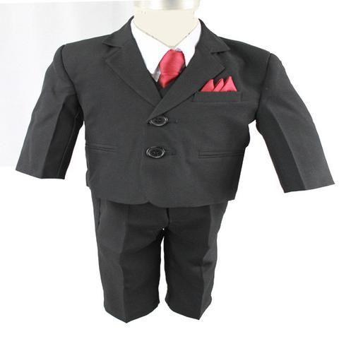 Baby Boys' Formal Black Suit - 5 Pieces