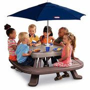 Little Tikes Endless Adventure Fold N' Store Picnic Table ComboOutdoor Furniture, Marketing Umbrellas, Toys, Picnics Tables, Kids, Stores Tables, Stores Picnics, Little Tikes, Tikes Folding