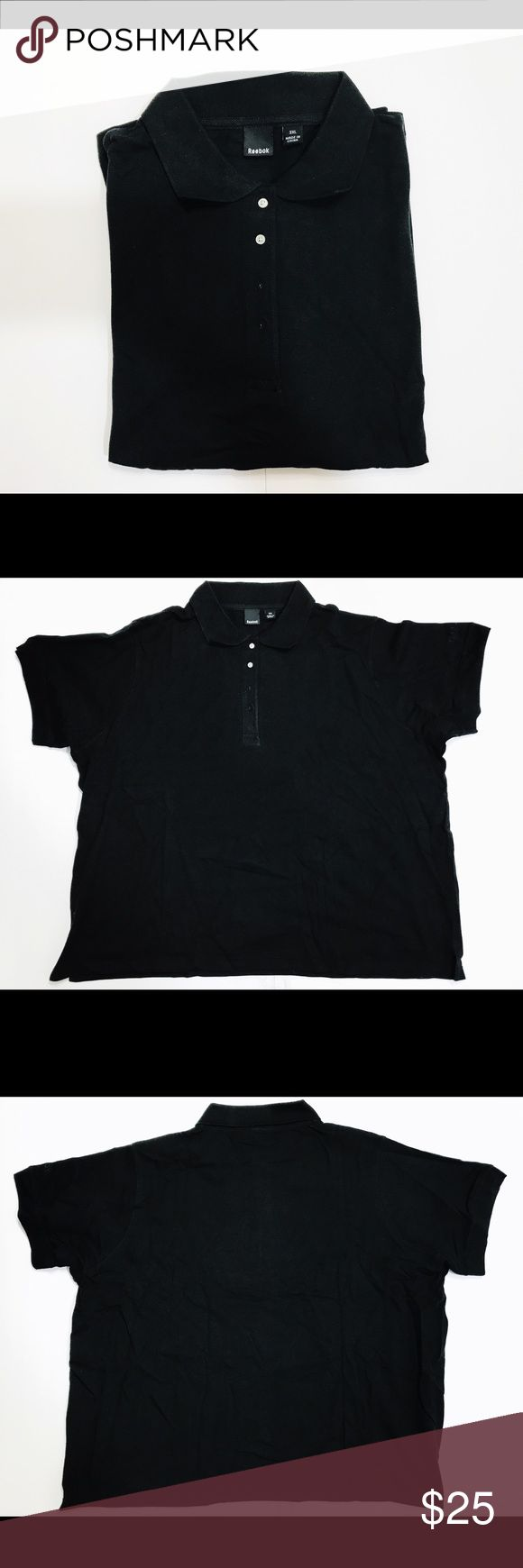 """New Men's Reebok Polo-shirt Black 3XL Shirt Men's Reebok Polo-shirt Black 3XL Shirt  Reebok Logo 100% cotton New no tags   Check measurements below for correct fit:    Measurements laid flat (approx):    Size 3XL:  Armpit to Armpit: 27 1/2""""   Sleeves: 9""""   Length: 26  1/2""""   I do my very best to accurately describe each item and if you need additional information,  please feel free to contact me.   I value your continued support and hope you will continue to enjoy the great bargains I offer…"""