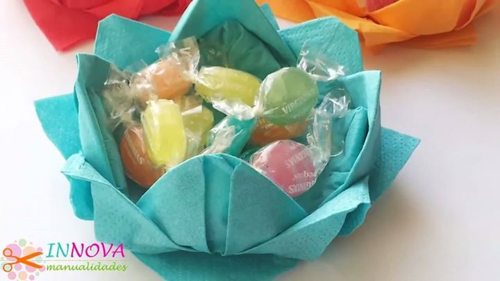 Confectioners Party with napkins (very easy)! By: Innova Manualidades