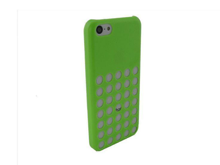 Hardcover iPhone 5C Hoesje Gaten Groen