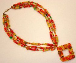 Plastic Water Bottle and Drinking Straw Necklace