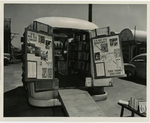 U.S. Naval Station Library Bookmobile, undated