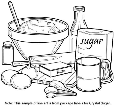 Cooking utensils coloring sheets murderthestout for Cooking coloring page