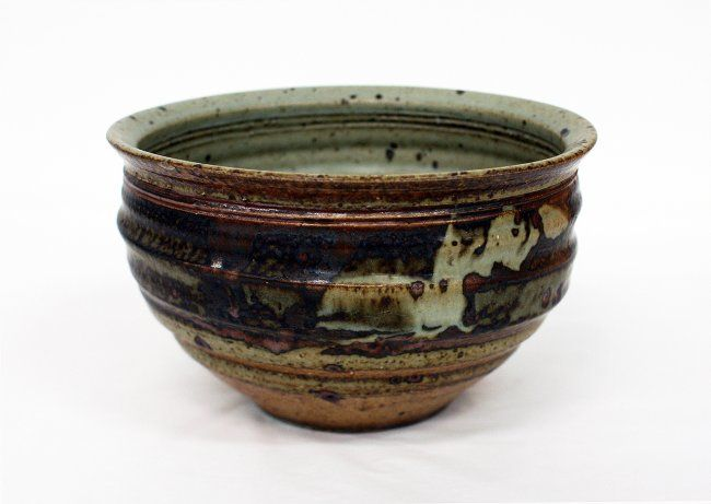 Warren Tippett Stoneware bowl, with potters cypher to the base. D. 210mm