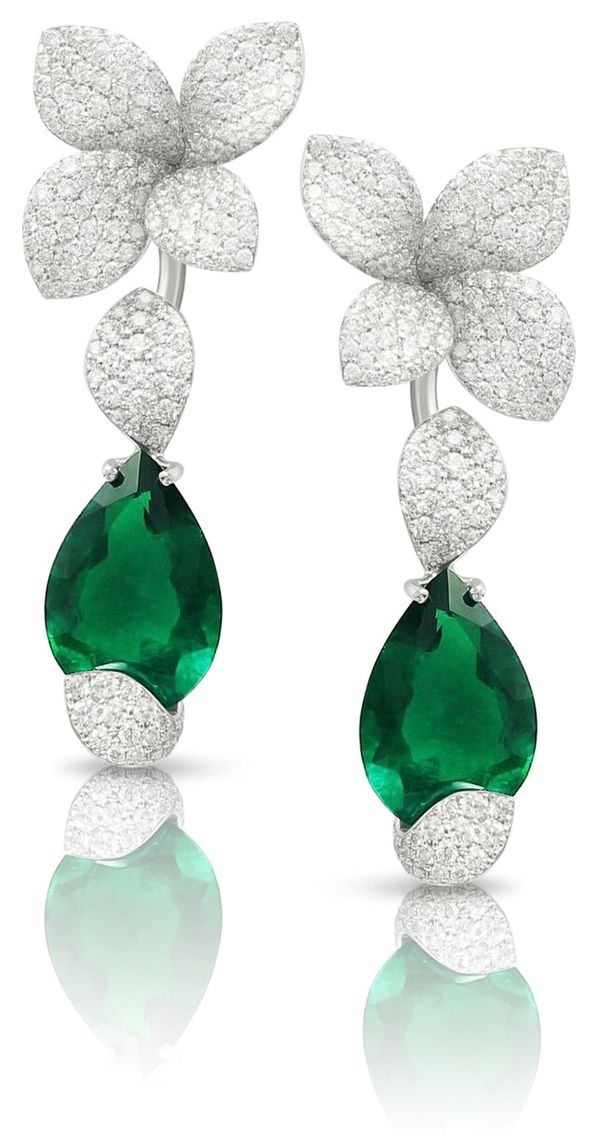 Pasquale Bruni Emerald and Diamond Earrings