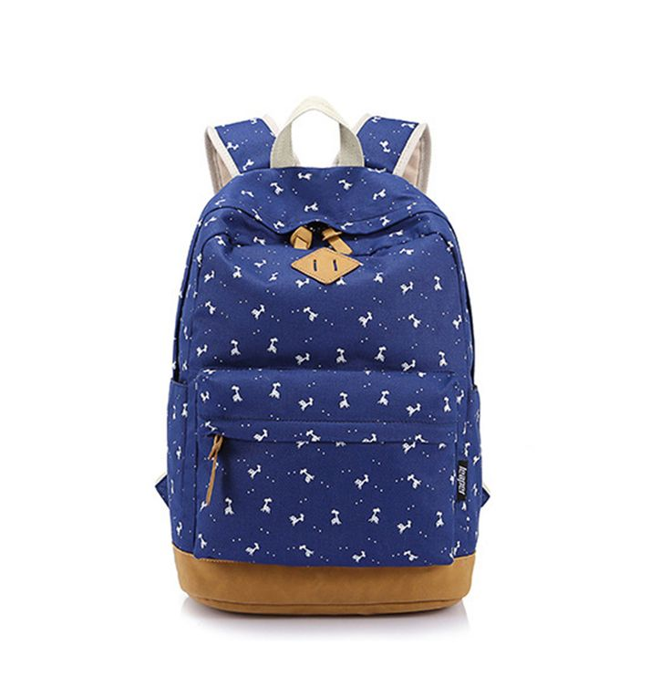 2016 Newest Canvas Backpack Female Animal Printing Backpack Preppy Style School Bags For Teenagers Mochila Militar #Affiliate