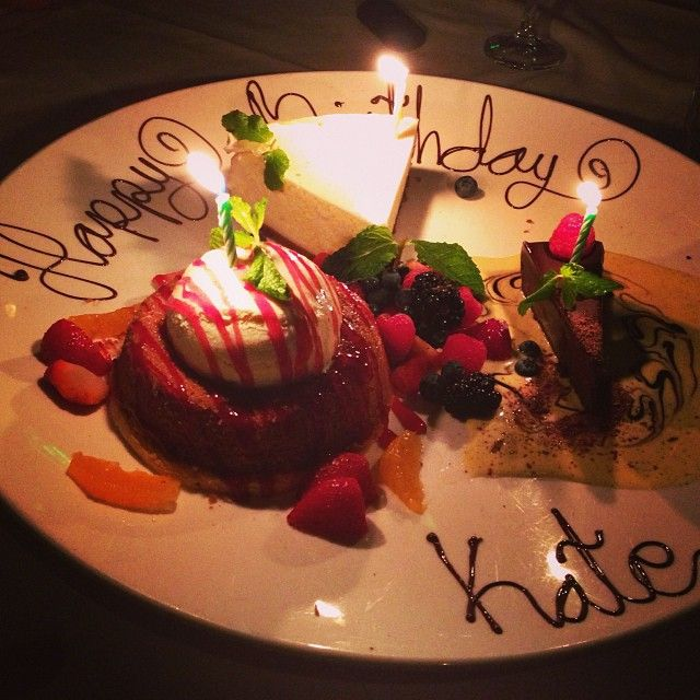 Great Birthday dessert/cakes idea.. Kate Walsh's 2013 birthday dessert platter to be exact.. Exquisitely beautiful!!