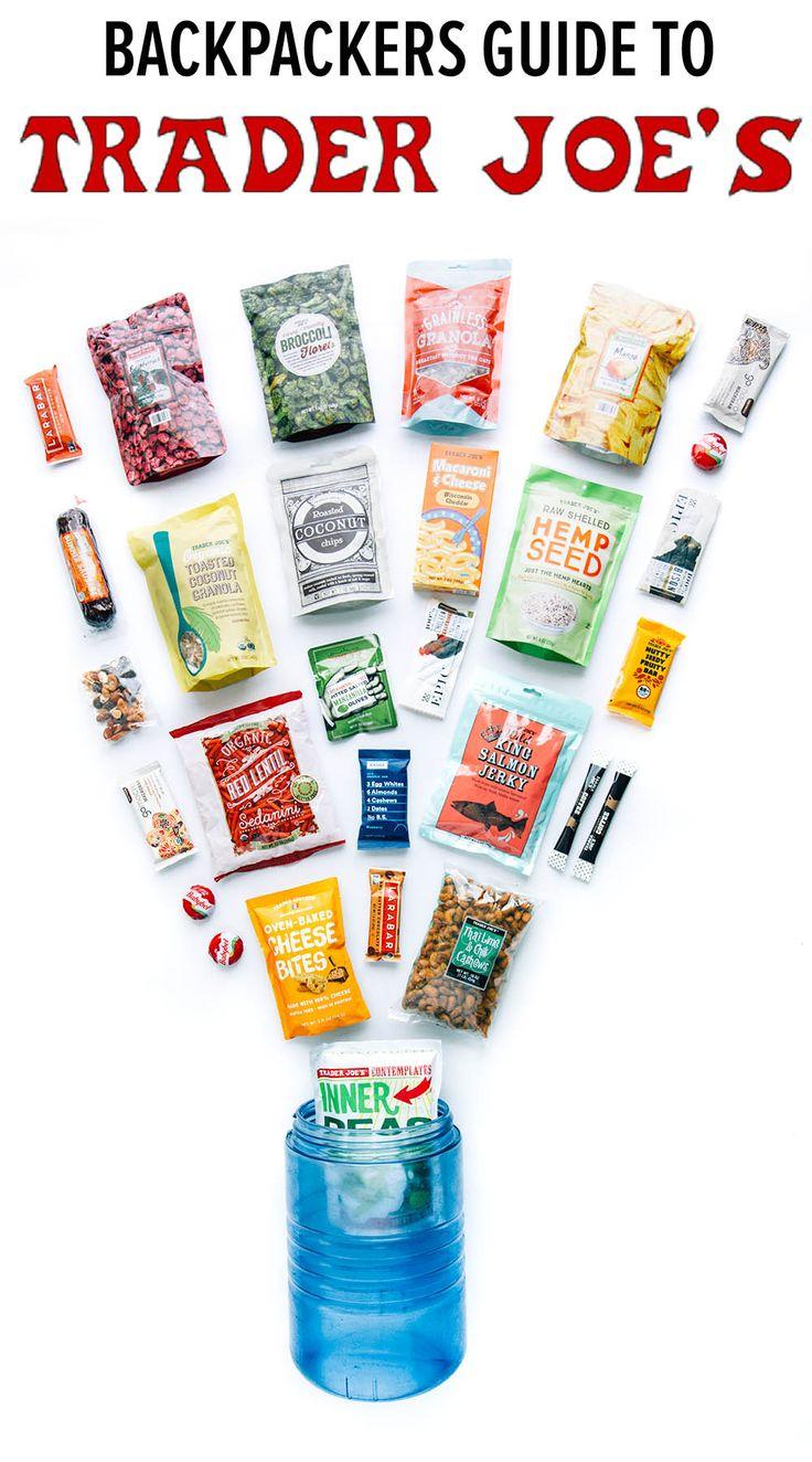 Need some easy backpacking food ideas? This guide if full of lightweight, calorie-dense snacks and meals that you can find at your local Trader Joe's.