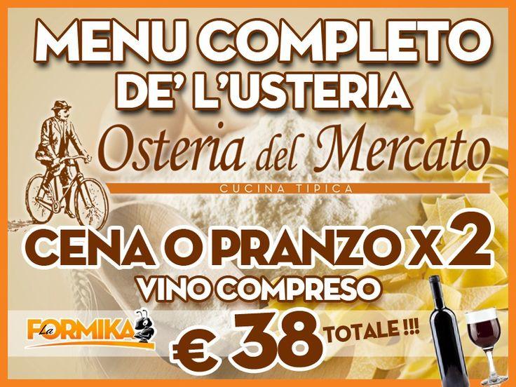 Lodi in corsa! Sconti Lodi - Coupon Lodi - OSTERIA DEL MERCATO - Un coupon per riscoprire la vera cucina tipica  www.laformika.com