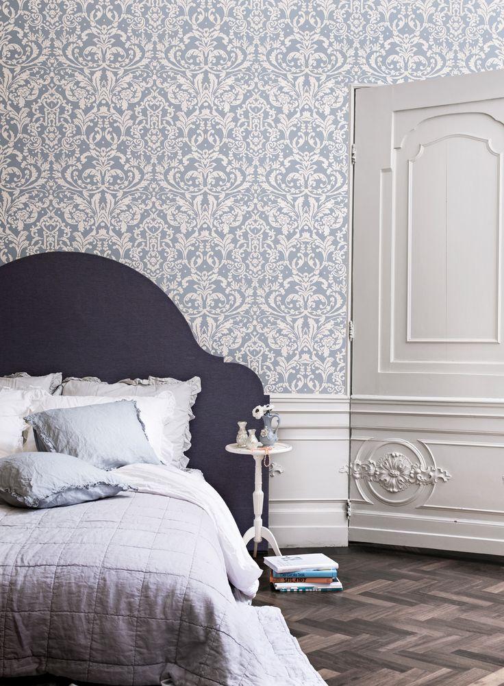 Wallpaper Ornamentals Blue / Behang Ornamentals Blauw - BN Wallcoverings