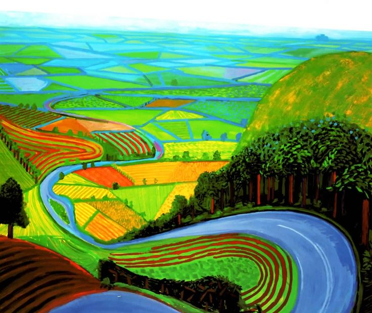 Garrowby Hill - David Hockney
