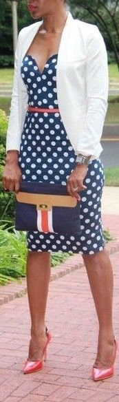 Classy polka dot never goes out of style