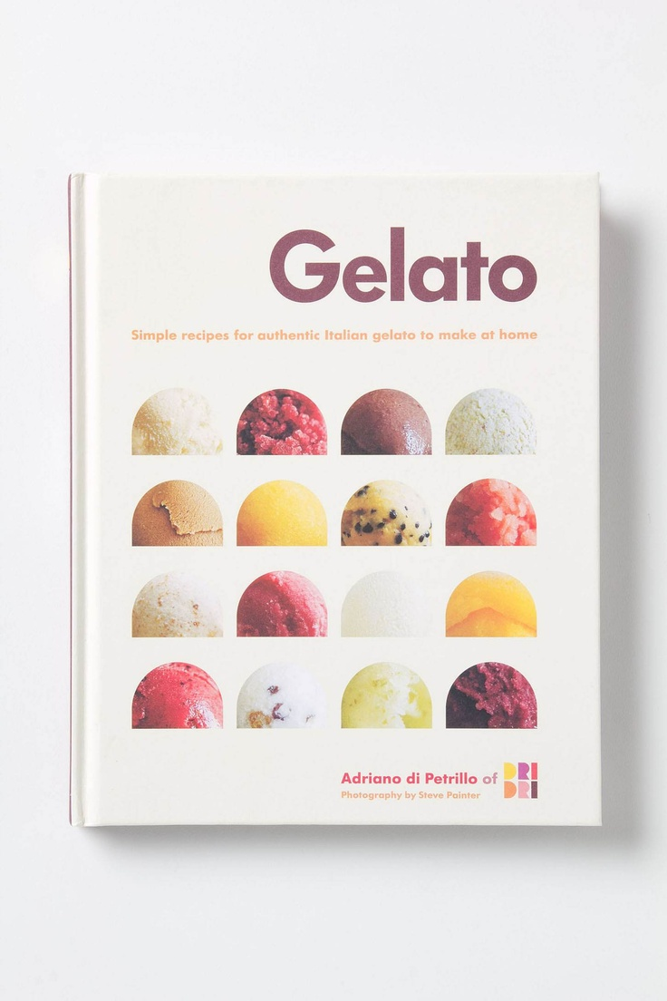 Gelato Recipe book. yes. yes i will have this