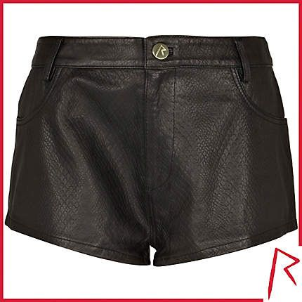 #RihannaforRiverIsland LIMITED EDITION Black Rihanna snake embossed leather shorts. #RIHpintowin click here for more details >  http://www.pinterest.com/pin/115334440431063974/