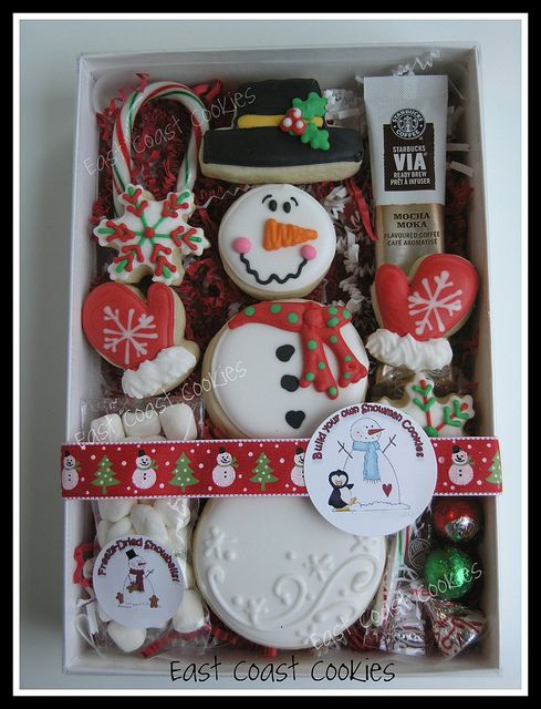 'Build your own Snowman' cookies