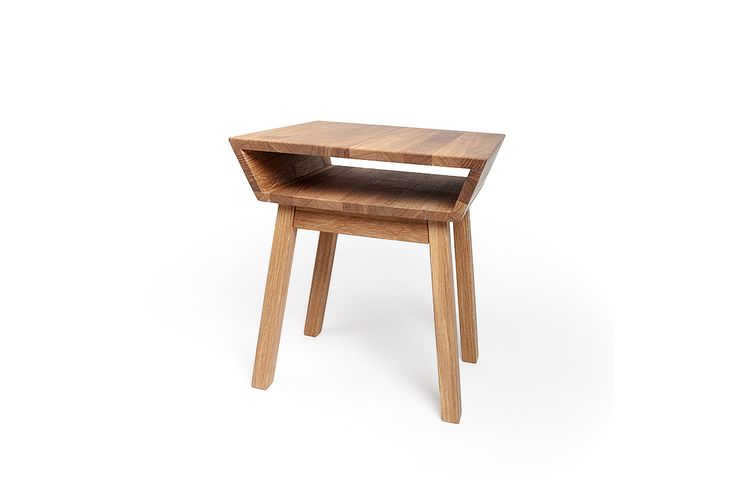 Bedside table in oak, deisgn Björn Welander