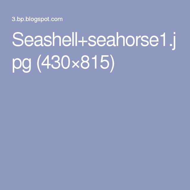 Seashell+seahorse1.jpg (430×815)